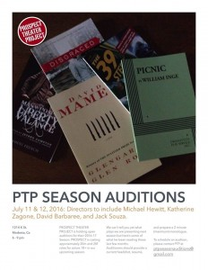 PTP Season Auditions